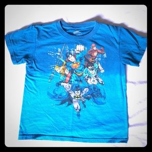 Justice League boys two tone blue tee